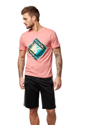 T-Shirt with Bench Print on the Front