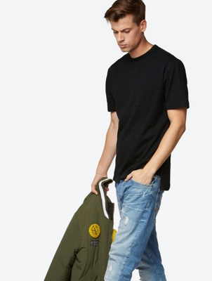 T-Shirt with Patch Chest Pockets