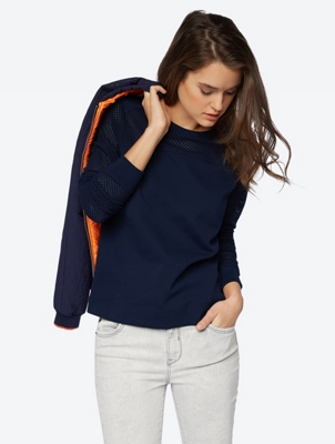 Modern Sweatshirt with Perforated Pattern