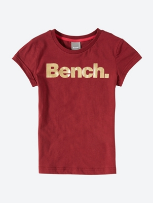 T-Shirt with Shiny Bench Print on the Front