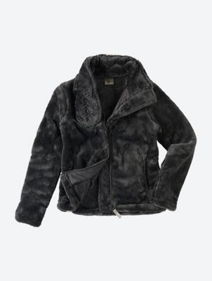 Jacke aus weichem Plüsch