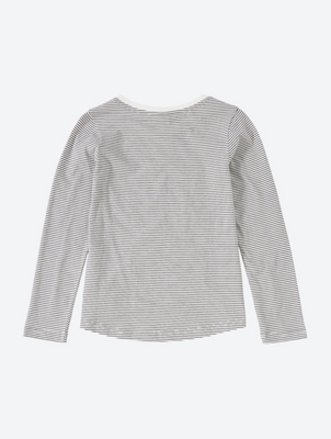 Long-Sleeve Top with Striped Pattern