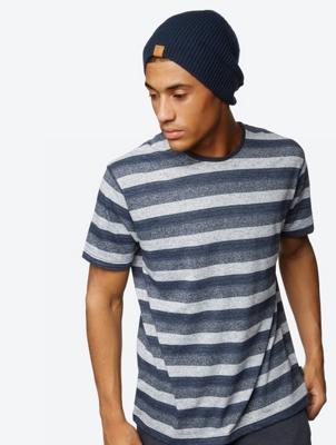 T-Shirt Nodoff with Diverging Stripes