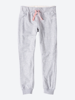 Melierte Sweatpants mit Logo-Stickerei