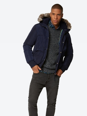 Warm Lined Jacket with Removable Hood