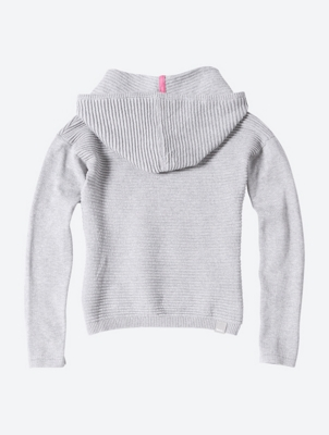 Soft Hooded Jumper with Ribbed Structure