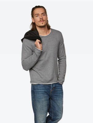 Casual Sweatshirt Occasional with Open Edges