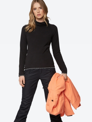 Long-Sleeve Top with Shawl Collar