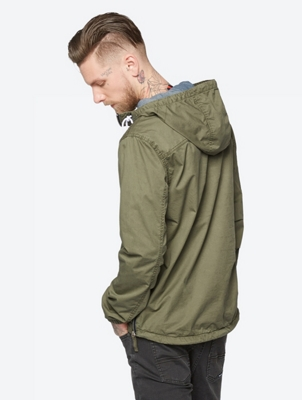 Casual Jacket with Width-Adjustable Hood