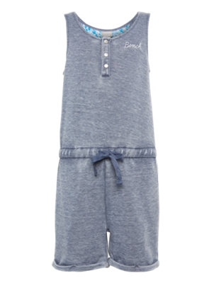 Jumpsuit with Bench Embroidery on the Chest