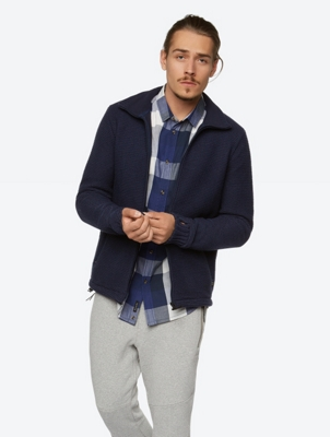 Fleece Lined Cardigan with Thumb Holes