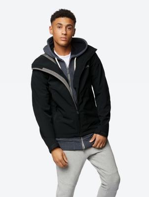 Wasserabweisende Active-Jacke mit abnehmbarer Kapuze