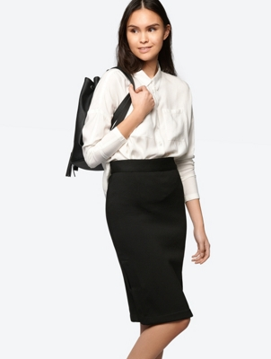 Pencil Skirt with Side Slits