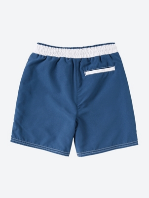 Durable Swim Shorts with Cool Photo Print