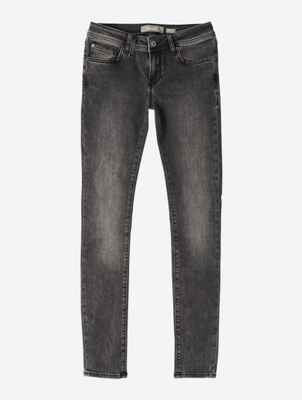 Skinny high-rise jeans with side zip