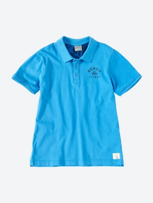 Plain Polo Shirt with Open Edges