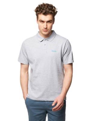 Polo Shirt with Bench Print