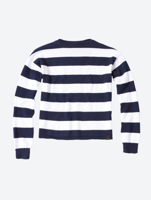 Striped Jumper with Overcut Shoulders