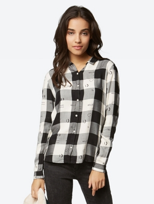 Blouse in a Checked Pattern