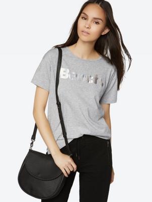 T-Shirt with Metallic Logo