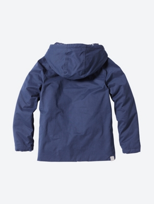 Water Repellent Hooded Jacket with Polka Dot Print Lining