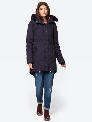 Parka with Colourful Lining