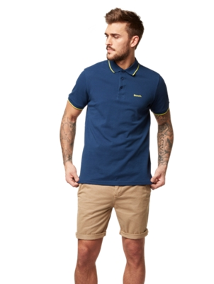 Polo Shirt with Rubberised Bench Motif on the Front