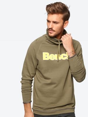 Sweatshirt with Rubberised Bench Print