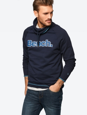 Sweatshirt with Rubberised Bench Print