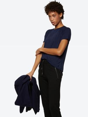 Lightweight Raglan T-Shirt with Layered Details