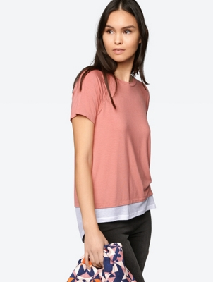 Lightweight Raglan T-Shirt with Layered Details