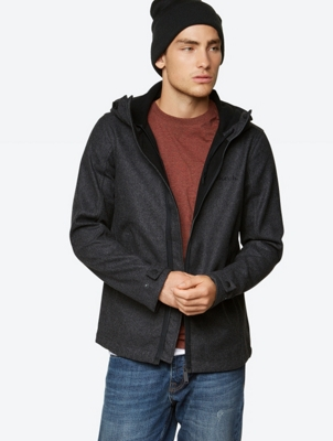 Fleece-Lined Jacket Rampant in Melange Design