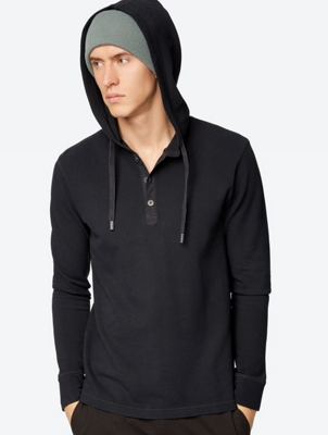 Piqué Long Sleeve Recluse with Hood