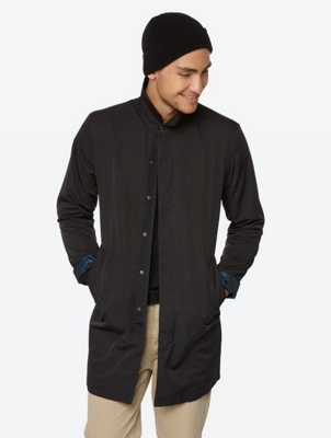 Lightweight Coat Remedy with Concealed Button Pocket