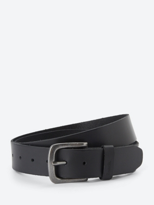 Leather Belt Reside with Metal Buckle