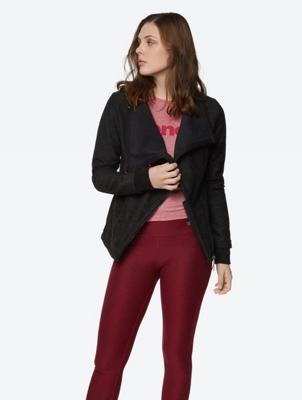 Melange Jacket with Fleece Lining