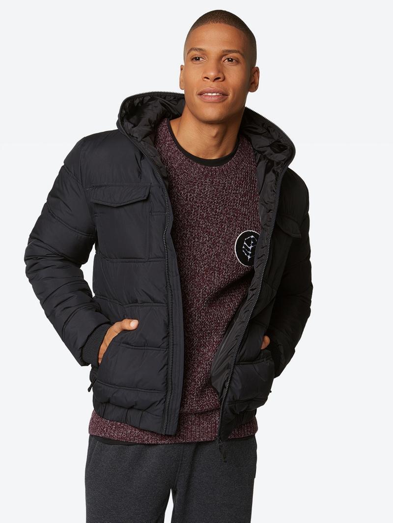 Bench Schwarz Mens Jacket Größe L