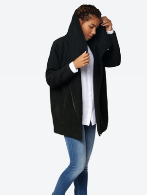 Oversize Coat Secure made from a Wool Mix