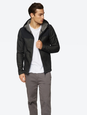 Fleece Jacket with Woven Shoulder Section