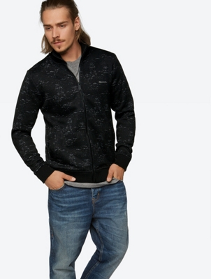 Sporty Sweatjacket Separate with All-Over Print