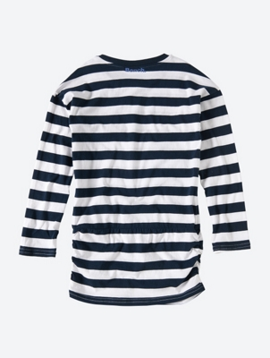 Striped Long Sleeve Shirt with Waistband