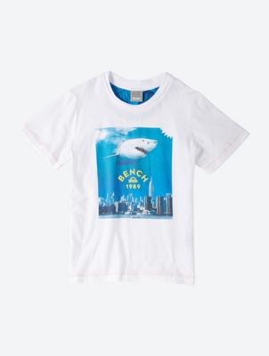Gerade geschnittenes T-Shirt mit Front-Print