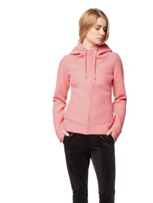 Sweat Jacket with Textured Effect