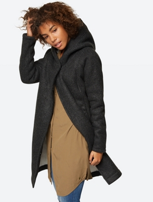 Oversized hooded Coat