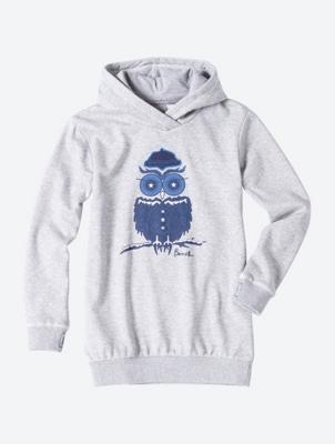 Hoodie with Owl Print
