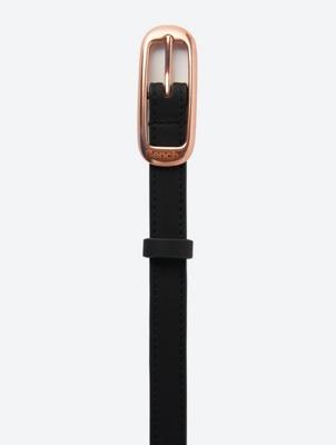 Schmaler Gürtel in Leder-Optik