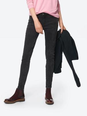Schmal geschnittene Jeans im Five-Pocket-Stil