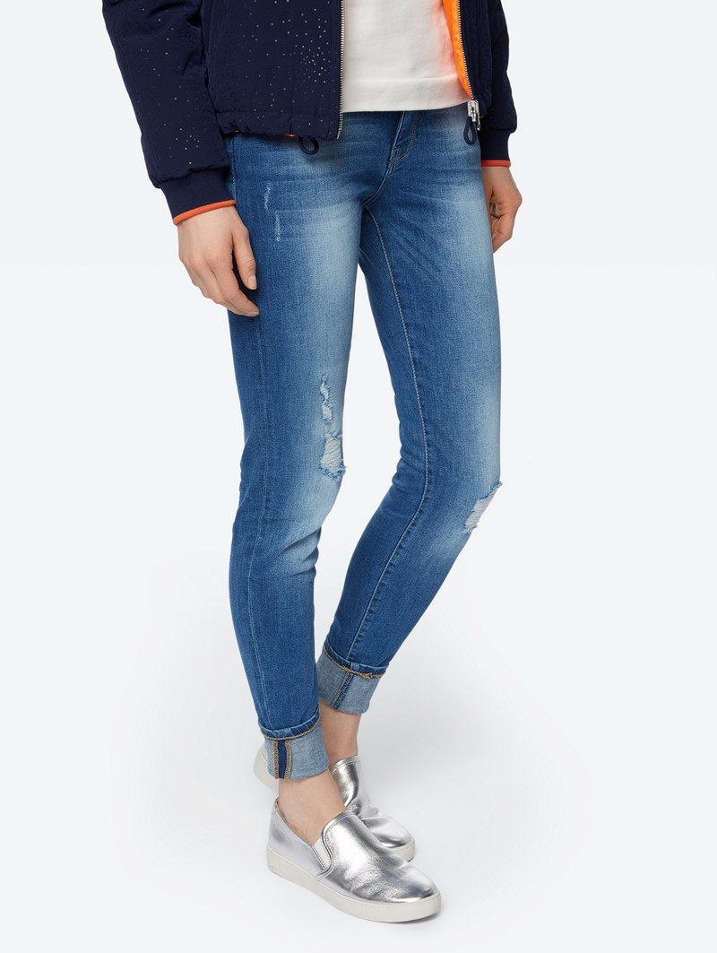 Bench Blau Ladies Jeans Größe 27w 34l