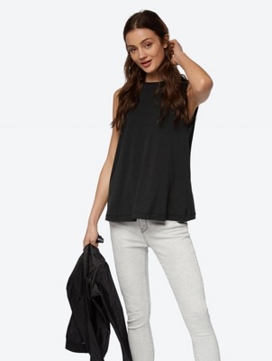 Sleeveless Top with a Slightly Flared Fit
