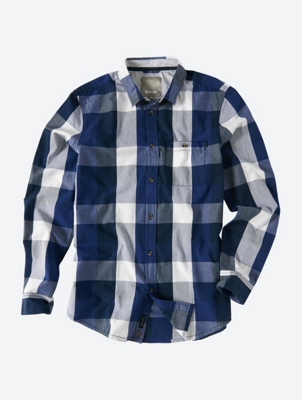 Checked Long Sleeve Shirt Snickers with Patch Breast Pocket